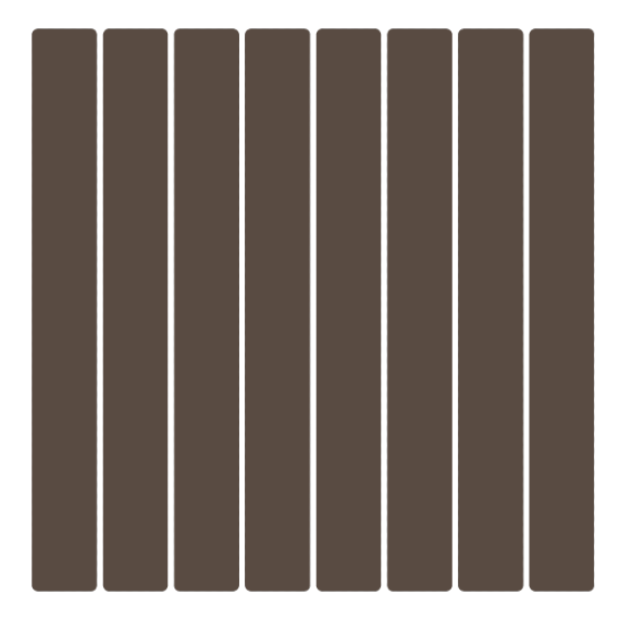 The Single Width deck board pattern is the most commonly installed composite deck board layout throughout the entire United States.