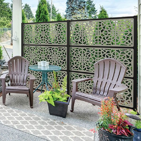 Create a one-of-a-kind garden trellis or patio privacy wall with Privacy Screen Panels by DuraLife