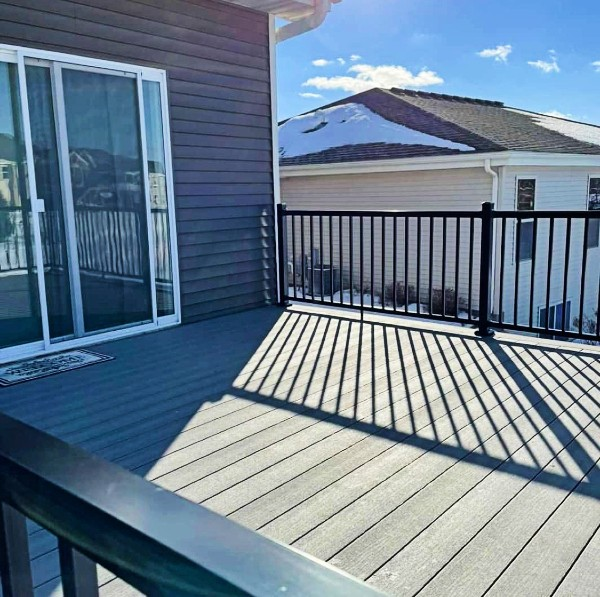 Installing deck columns beneath your deck frame creates a clean new space for entertaining