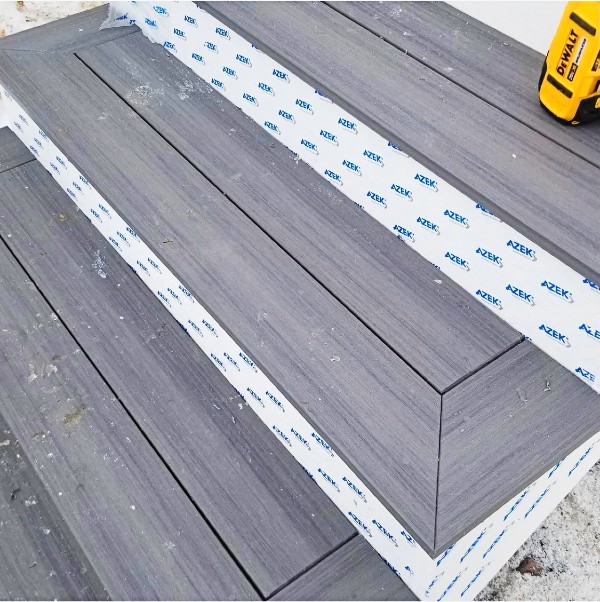 Create a clean picture-frame finish for outer deck boards and stair treads with hidden deck fasteners