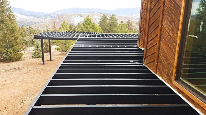 The Fortress Steel Deck Framing line can be cut and mounted to fit any deck design and style