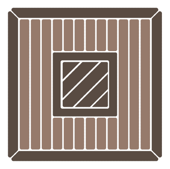 Diagonal deck board patterns emphasize a strong sense of style and deck build complexity.