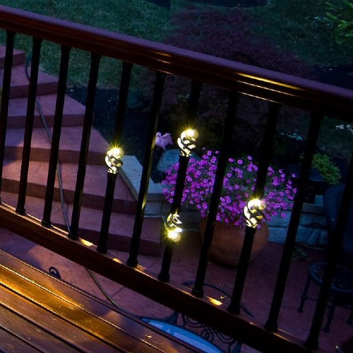 Add lighted deck balusters to your outdoor space to gain a stunning deck or porch area throughout the night