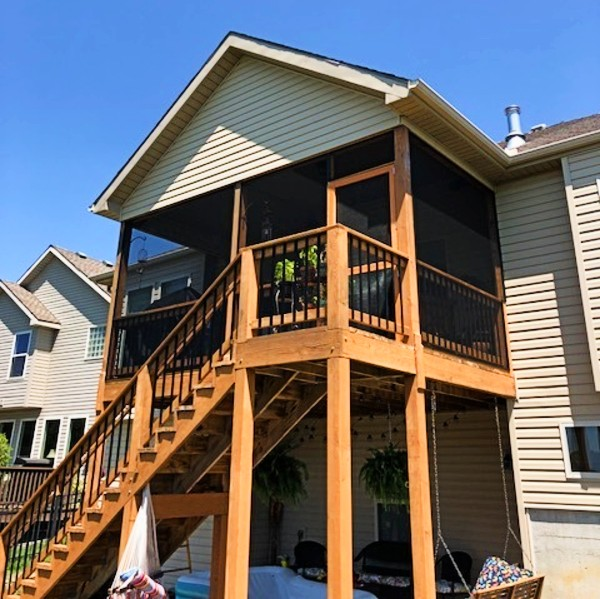 The SCREENEZE SNAPTRACK system makes installing porch screen in your outdoor living space a breeze