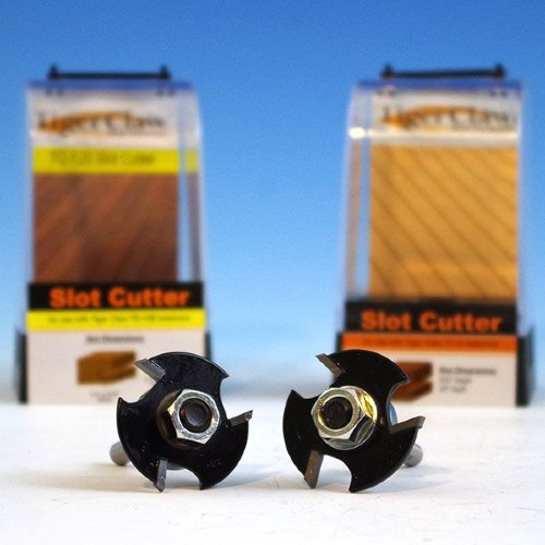 Use the Tiger Claw Slot Cutter to create a perfect groove in your deck board side for a hidden deck board fastener