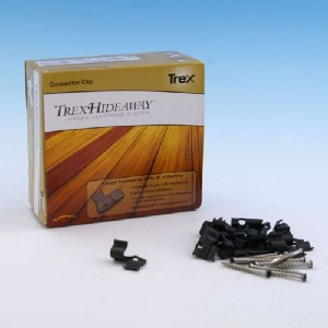 The Trex Hideaway Hidden Fastener Clips are stainless steel deck fasteners to secure your grooved deck boards in place