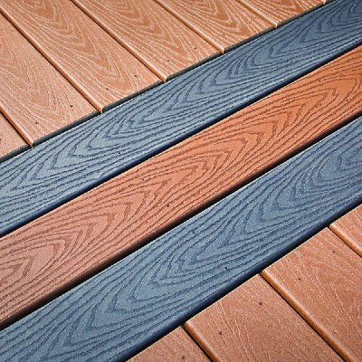 The Trex Select composite decking line feature natural tones and rich wood-grain embossing at a low price