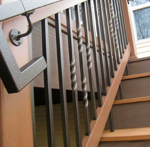 Twist balusters bring a light touch of whimsy and unique appeal to your DIY deck railing easily