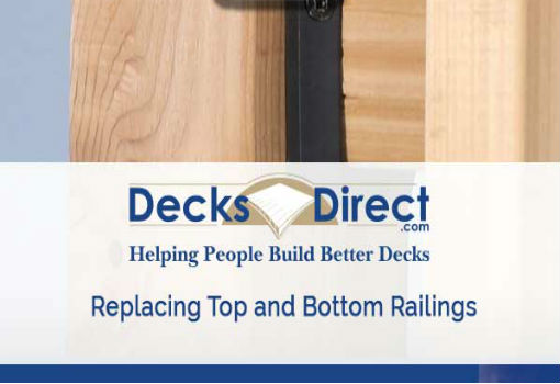 How to replace old wood deck railing