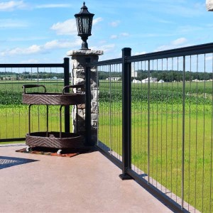 For a modern look that virtually disappears from view, choose KeyLink Vertical Cable Railing