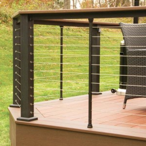Enjoy the beauty of your backyard with KeyLink Horizontal Cable Railing system