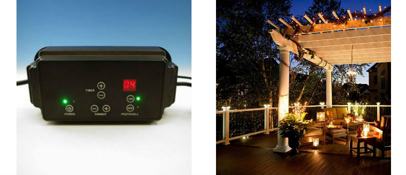 The 50 Watt LED DC Transformer by LMT Mercer allows you to turn your deck lighting on and off straight from your cell phone