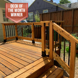 With just a few hours, you can take your backyard to the next level, Deck of the Month winner for August