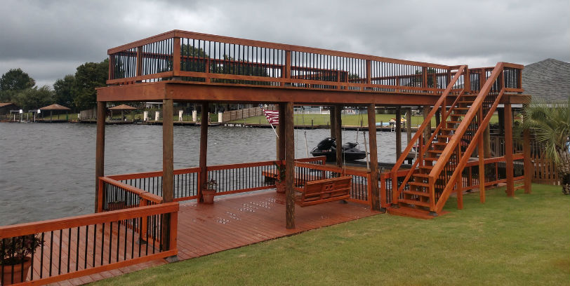 Deckorators and Fortress Face-Mount Deck Balusters create a clean, beautiful look for your deck, porch, or waterside dock in just an afternoon