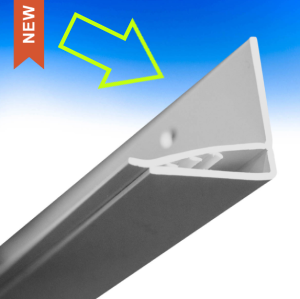 The top side of the UpSide Edge Trim has a single leg with slot openings