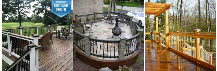 From round, square or face-mount aluminum deck balusters to glass balusters and composite pieces, complete your deck