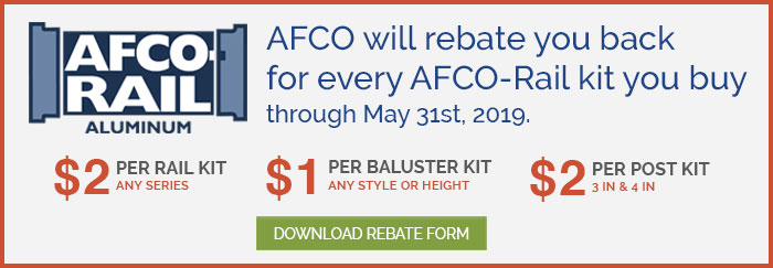 Afco Railing Spring 2019 Rebate Program