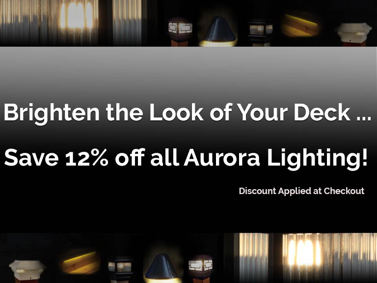 Save 12% on all Aurora Lighting