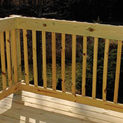 An example of wood railing