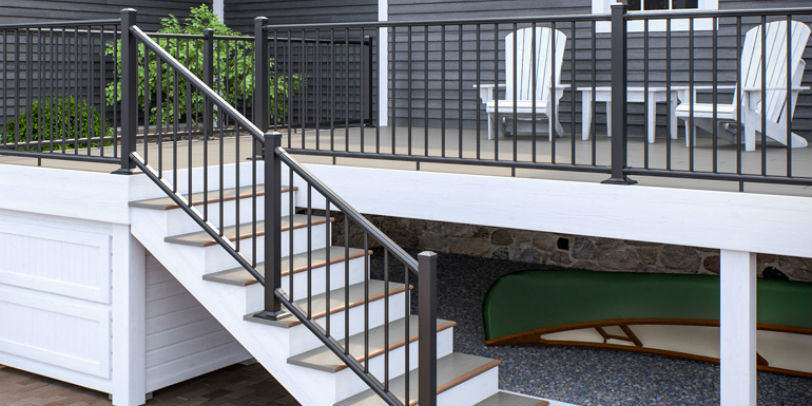 Add a clean, polished look to your outdoor space with the finishing touch of Deckorators ALX Classic deck railing