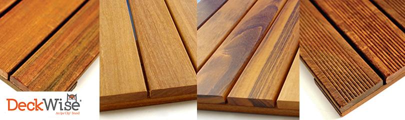 DeckWise Hardwood Tiles