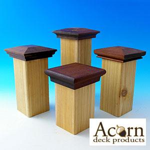 Acorn Ipe Post Caps