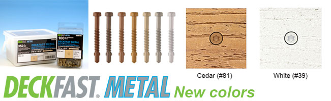 DECKFAST Deck Screws for Metal Framing