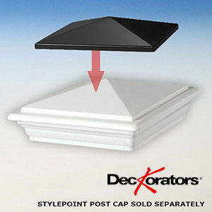 Deckorators Stylepoint Post Cap Topper for CXT Railing System