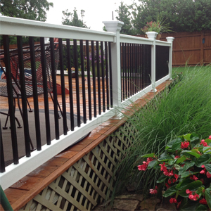 Durables Vinyl Deck Railing