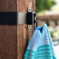 Keep fuzzy blankets, scarves, or sweaters close at hand and up off the deck floor with the Blanket Hook Hanger from OZCO