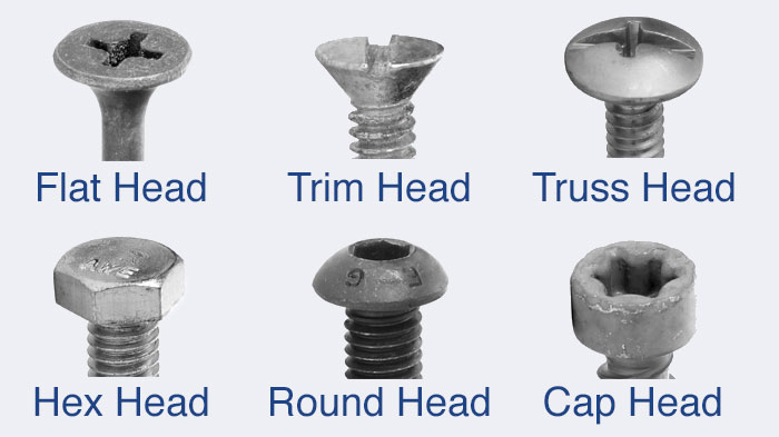 Deck Screw Head Types