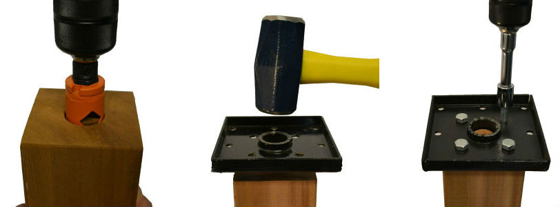 It's only three easy steps to attach your wooden deck posts to your strong Titan Post Anchors