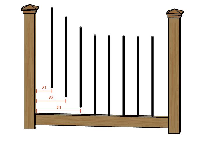 baluster spacing diagram